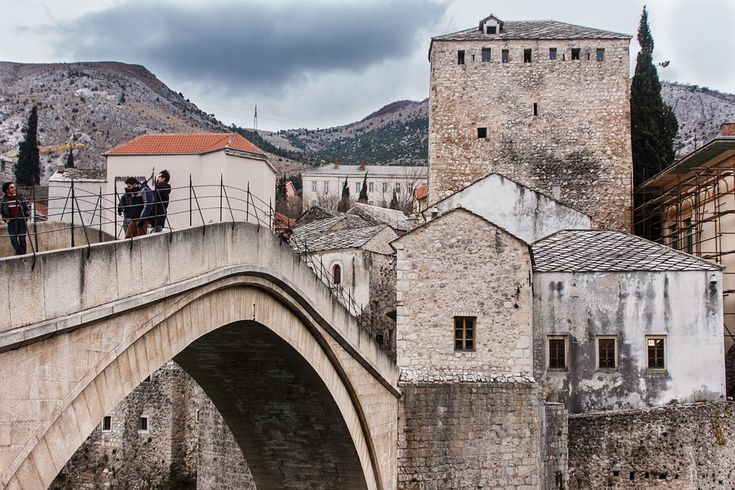 Mostar Bridge Travel Bosnia Herzegovina Stari