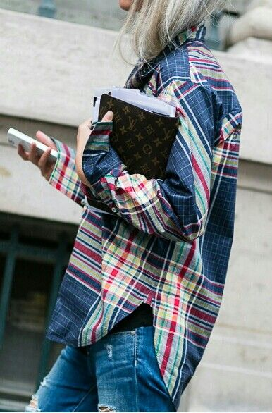 plaid. For my Stitch Fix Stylist, have combed the internet, clues and all, cannot find this shirt-if you have something similar, YES!