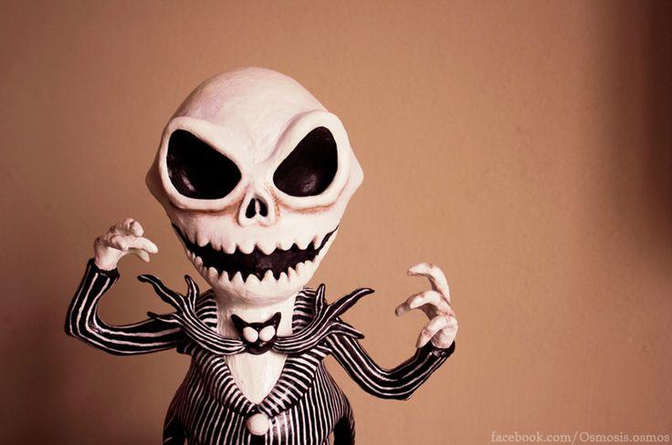 """Osmo Jack skellington"" art toy"