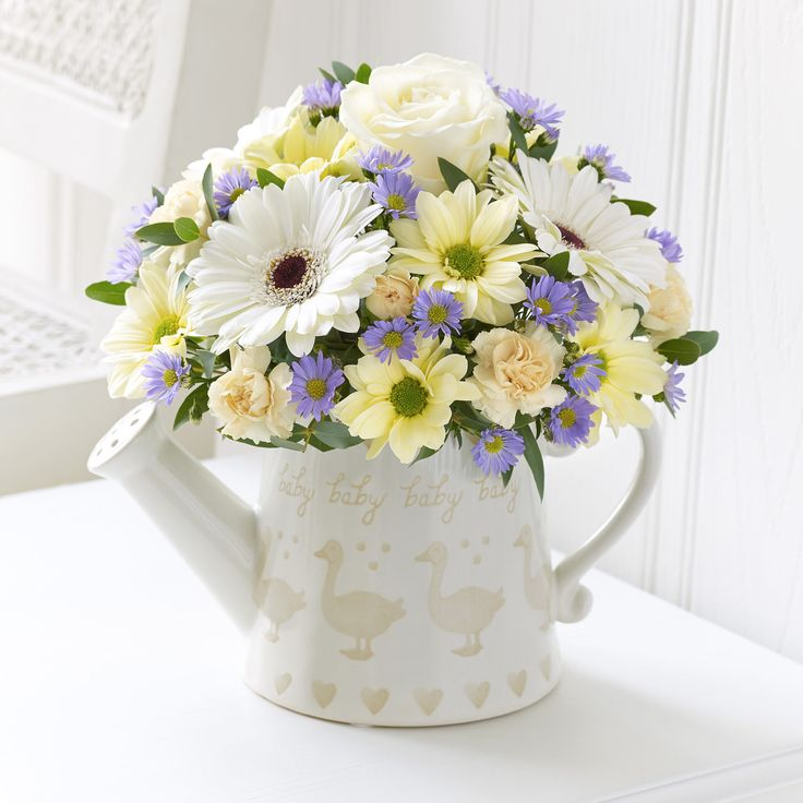 Our gentle little duckling display of flowers are ideal for congratulating someone on a baby.