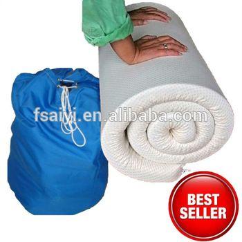 portable memory foam mattress