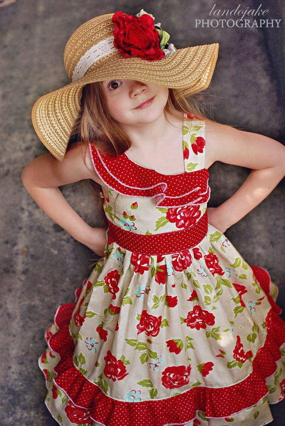 The Savannah dress by Corinna Couture Summer by CorinnaCouture but I need it in a girls 10!