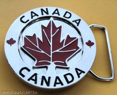 Canada Canadian Canadien Ottawa Maple North Belt Buckle