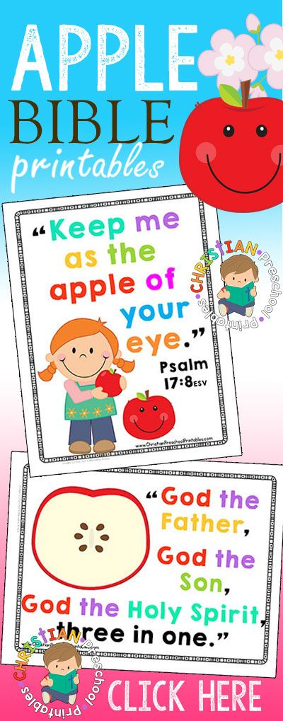 """Apple themes are perfect to tie in with your Christian Preschool Lessons. Use these free Bible resources when teaching about Adam and Eve, or when learning about the Trinity. Find more Adam and Eve Bible Resources Here. Find Free Apple themed Bible Lessons Here. Check out this fantastic book titles, """"3 in 1 a …"""