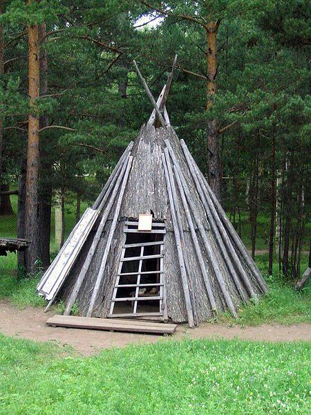 Evenks wooden home