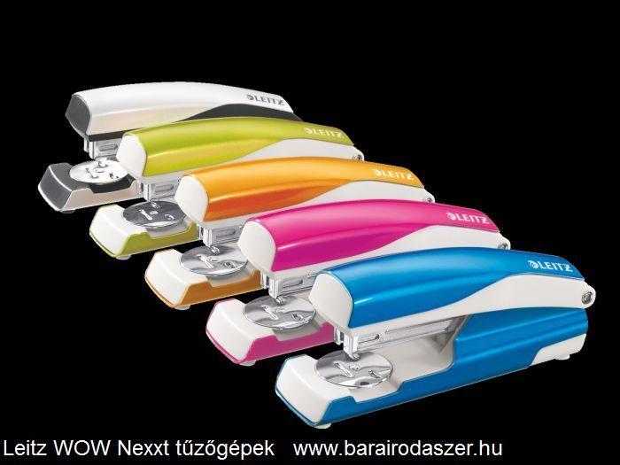 A teljes sorozat a Leitz WOW Nexxt tűzőgépekből.