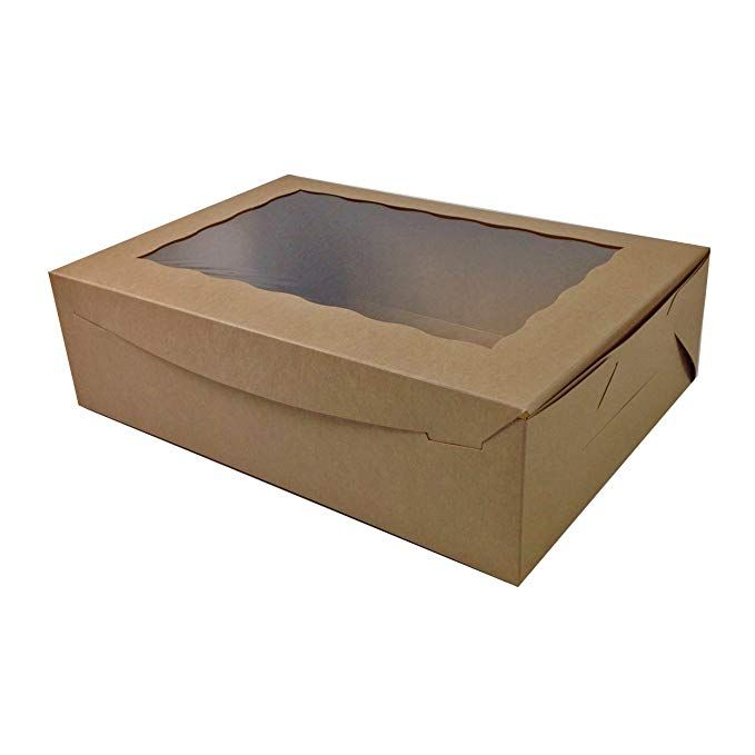 Black Cat Avenue 14 X 10 X 4 Cake Boxes Kraft Brown Window Paperboard Cupcake Boxes Sheet Cake Boxes Donut Boxes Bakery Bo Donut Box Bakery Boxes Sheet Cake