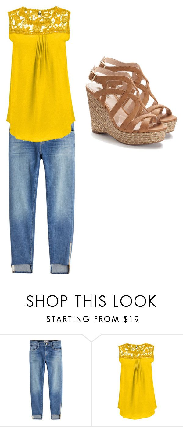 """Honey Bee"" by oliviamartin680 on Polyvore featuring Frame and Jennifer Lopez"