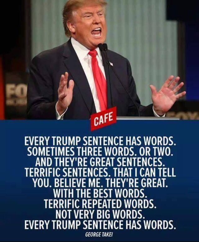 Vocabulary of a 5th grade Bully....It figures the Racist Dummies can relate to him so well!