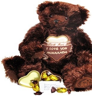 Your Love Message embroidered on this Love Bear $99.95 (AUD) | FREE Delivery