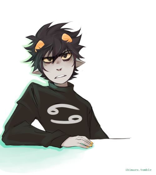 Karkat all pissy and surly and cute as shit
