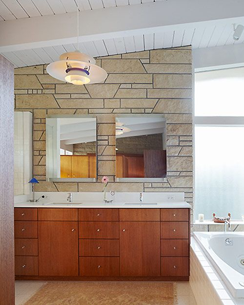 Pictures Of Modern Bathrooms Part - 45: This Mid Century In Kansas Went Through A Nicely Done Renovation. The  Renovation Was Done · The CrossroadsModern BathroomsKansas ...