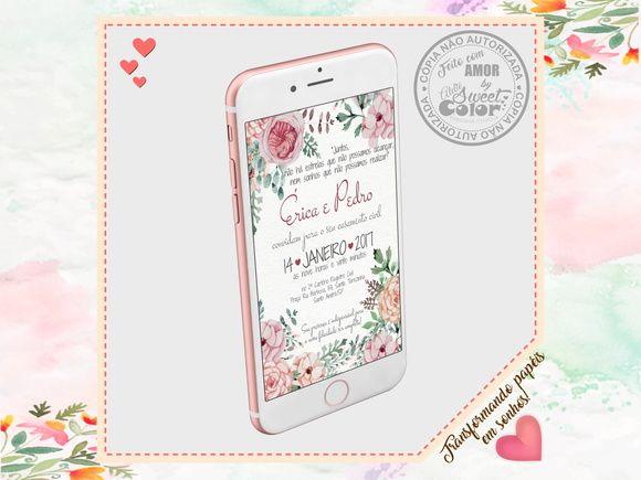 Convite Virtual Casamento Civil Convite De Casamento Virtual