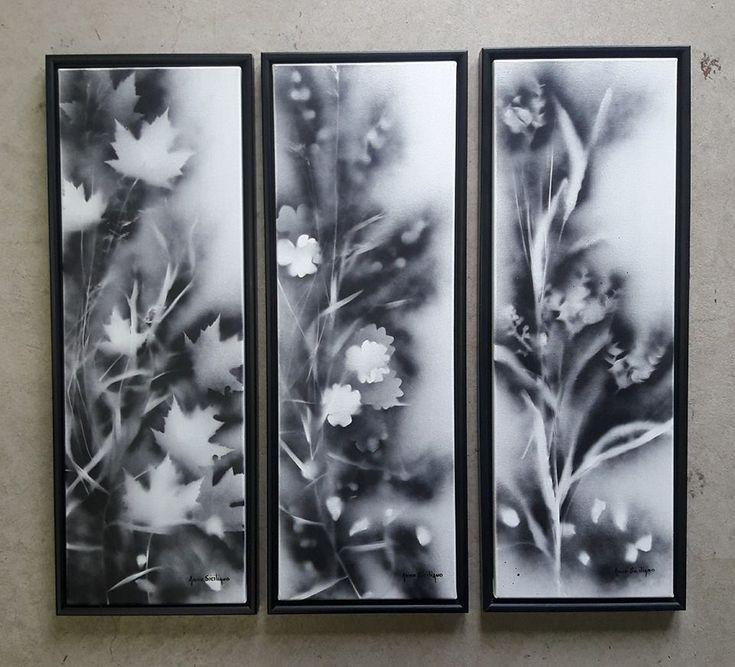 Mixed media on framed canvas's