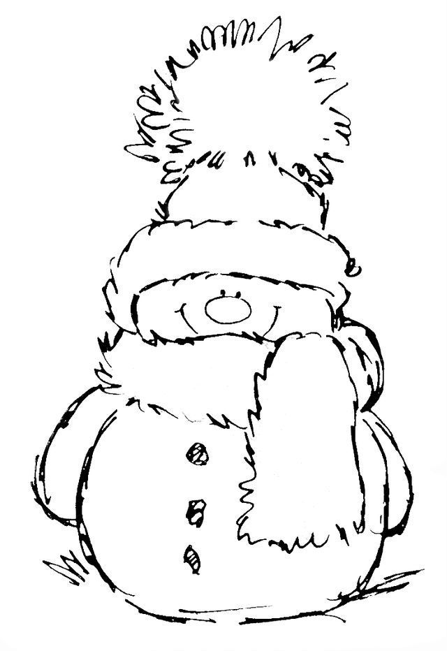 Cute, easy snowman coloring page perfect for seniors with ...