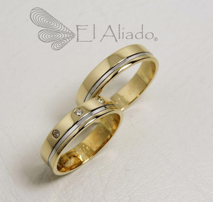 873. Argollas de matrimonio en oro amarillo, canal en oro … | Flickr
