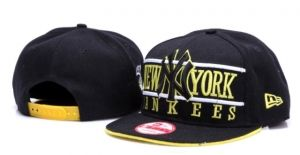 Casquette NY New York Yankees MLB Blank Snapback American Jaune : Casquette Pas Cher