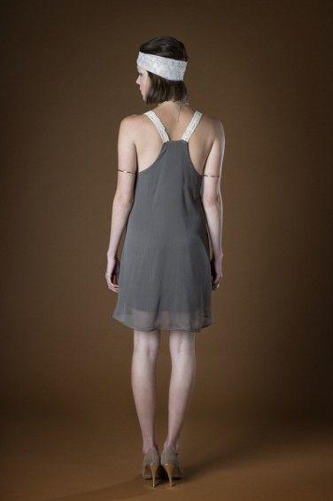 Lace Strap Dress back