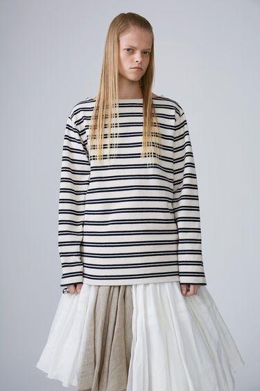 Acne Studios Davana Stripes Ecru White/Navy 375x