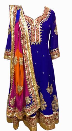 Heavy Gota Patti Work Anarkali in Georgette