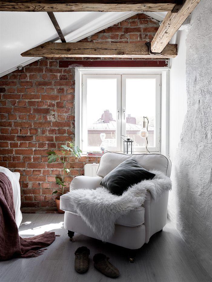 Une chambre sous les toits en Suède - PLANETE DECO a homes world