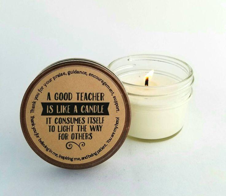 Teachers gift|end of year gift for teachers|teacher  appreciation gift|teachers Aid gift|small gift for teachers|teacher qoute|herbal candle by willowmooncandle on Etsy https://www.etsy.com/listing/295256045/teachers-giftend-of-year-gift-for