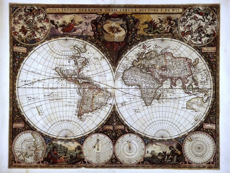 Daily Wallpaper: A Different Take on an Ancient Map | I Like To ...