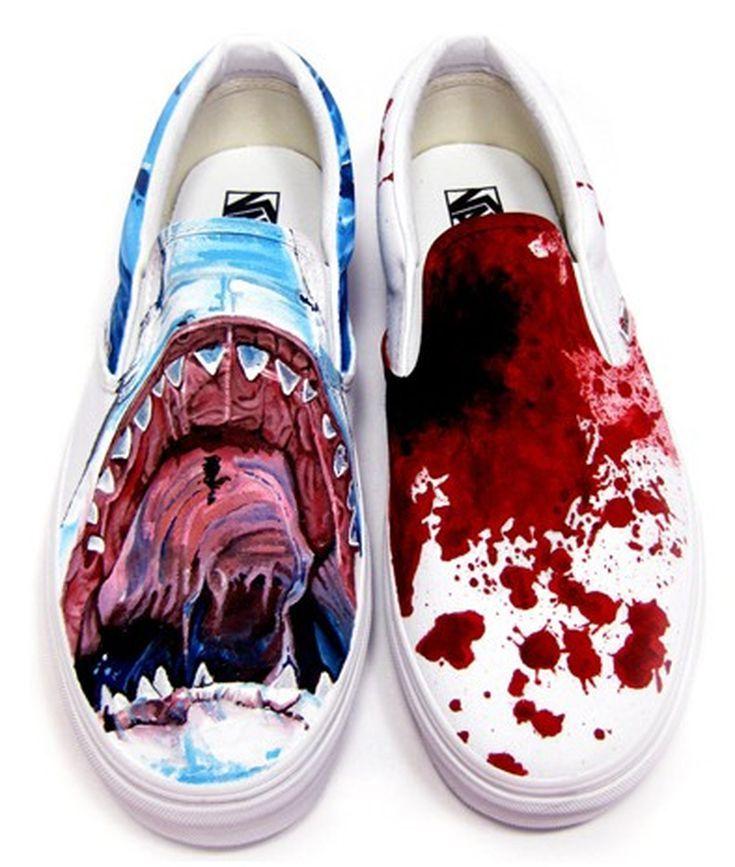 "new styles 7148a 4a858 Custom Vans Shoes  ""Bite Me"" Custom Vans by YoaKustoms"