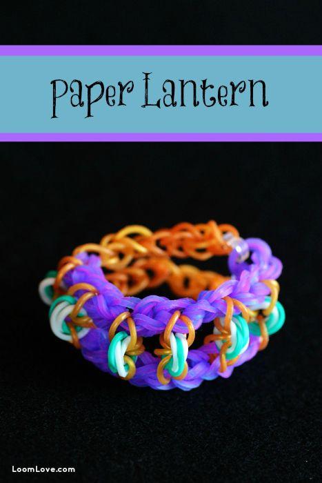 How to make a rainbow loom paper lantern bracelet for Paper lantern tutorial