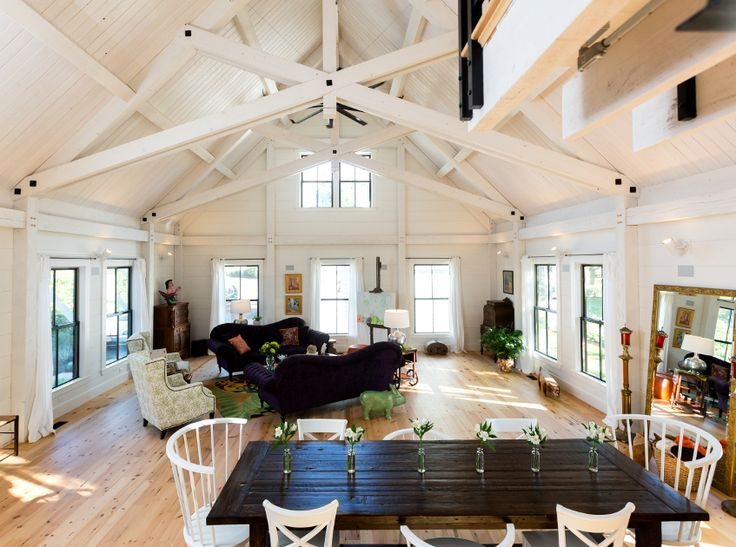 61 best timber frame great rooms images on pinterest for Timber frame great rooms