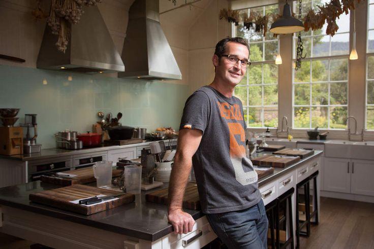 Rodney Dunn of The Agrarian Kitchen at Lachlan in the Derwent Valley, Tasmania.