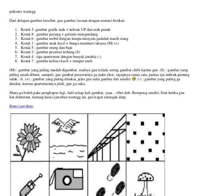 Permainan Psikologi Dalam Bentuk Tes Kepribadian Melalui Gambar Psikotes 8 Kotak Dapat Melihat Kepribabdian Pondasi Hidup Tujuan Menggambar Dasar Gambar Kotak