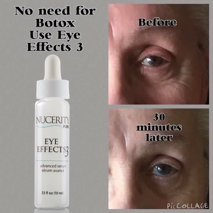"""""""Eye Effects 3"""" targets the eye zone's 3 critical signs of aging: crow's feet, puffy bags, and dark circles. It leaves the thin, fragile skin around the eyes hydrated and refreshed with radiant results."""