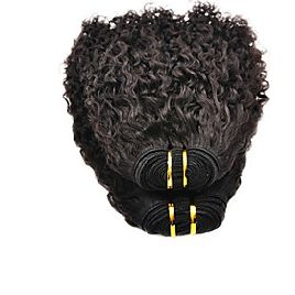 22inch 100% indisk Virgin Human Hair Afro Kinky Natural Black dyeable Great 5A Hair Extension / Weave #afflink