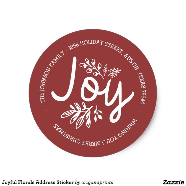 Joyful Florals Address Sticker