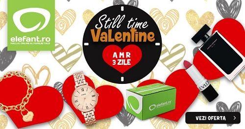 "Elefant organizeaza campania ""Still Time, Valentine"", campanie in care va fi 50% reducere garantata la parfumuri, cosmetice, ceasuri si bijuterii. Cumpara un cadou celui iubit prin Cashback Shopping si primesti inapoi pana la 3.5% din banii chletuiti! #elefant #cadou #reducere #ideidecadouri #valentinesday #ziuaindragostitilor #cashback #cashbackshopping #baniinapoi #primestibani #cumparaturionline #economisestibani"