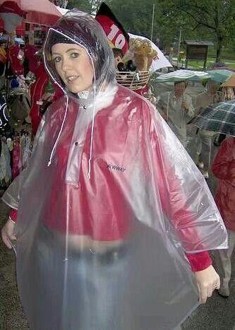Clear plastic | Regenkleding | Pvc raincoat, Plastic ...