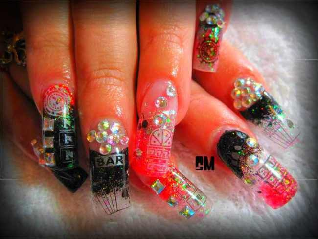 las vegas nail art designs | Nail Art for Vegas Casino :: Nail Art Design From CoolNailsArt