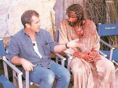 Jim Caviezel ... : Mel Gibson & Jim Caviezel on the set of ...