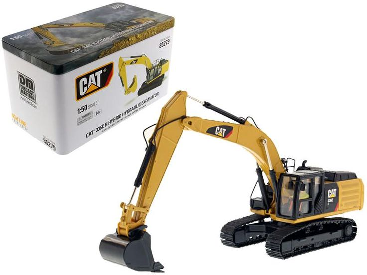 CAT Caterpillar 336E H Hybrid Hydraulic Excavator with Operator High Line Series 1/50 Diecast Model by Diecast Masters