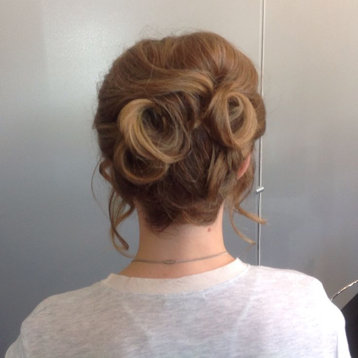 This client showed me a picture of a messy  but controlled up do. This is what we came up with!
