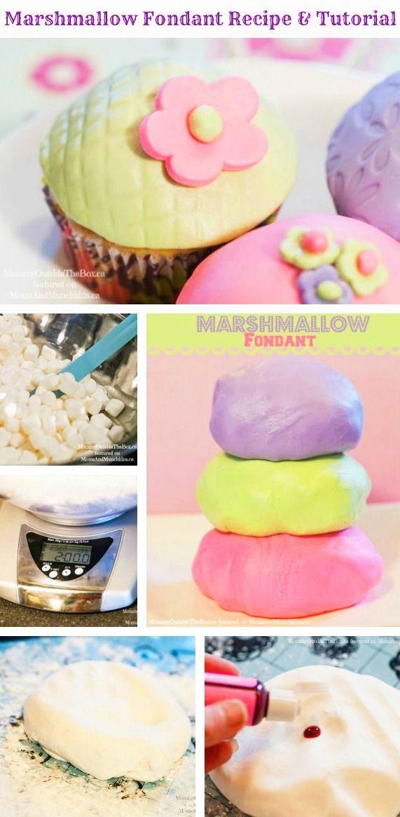 Easy Marshmallow Fondant Recipe and Tutorial! #DIY