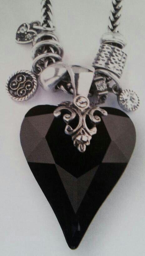 Lovely black heart statement piece!