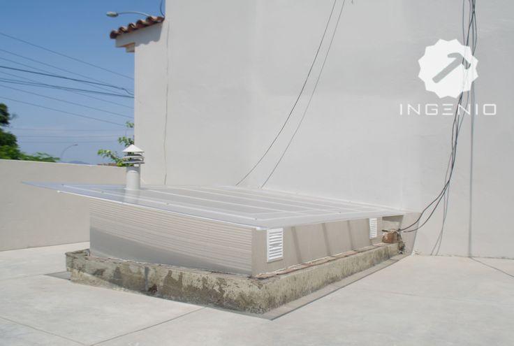 Instalación de techo para claraboya con policarbonato.