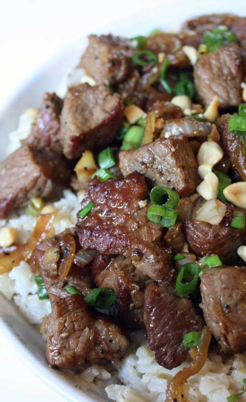 Asian Style Garlic Beef