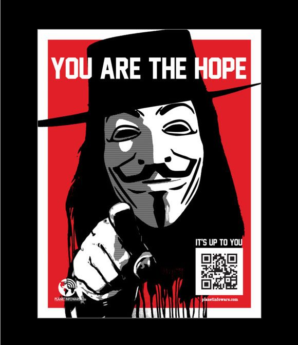 Spread Word that YOU Are the Greatest Hope Against Tyranny [Planet Infowars Resistance Poster]