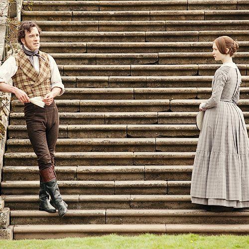 Michael Fassbender (Mr. Edward Rochester) & Mia Wasikowska (Jane Eyre) - Jane Eyre (2011) #charlottebronte #caryfukunaga