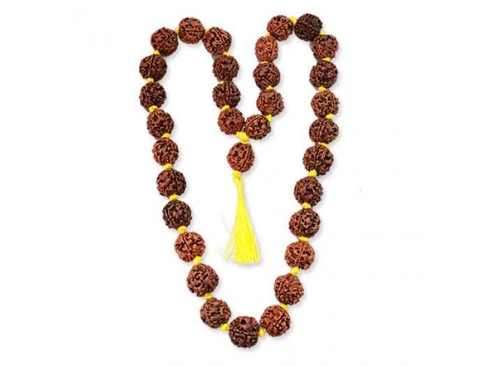 Four mukhi Rudraksha Beads Kantha Mala Online | Vedicvaani.com, India's most trusted brand in authentic genuine rudraksha beads online, Free worldwide shipping.