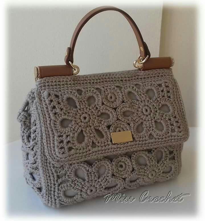 Crochet bag D&G style