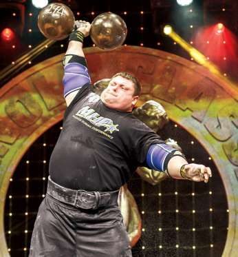 """Strongest Man-1. ZYDRUNAS SAVICKAS--POWERLIFTER, STRONGMAN BORN: LITHUANIA-1975 HEIGHT: 6'3"""" WEIGHT: 400 LBS, Our opinion, he's the strongest man of all time. Savickas won -Arnold Strongman Classic 7 times (2003–08, 2014), considered truer test of pure strength than the WSM competition. In 2005, he broke 3 world records for victory at the IFSA Strongman Wrld Champ. In '14, he set a new world record with a 500-pound log lift, a raw squat of 880 pounds, a 900-pound deadlift, and a 629-pound…"""
